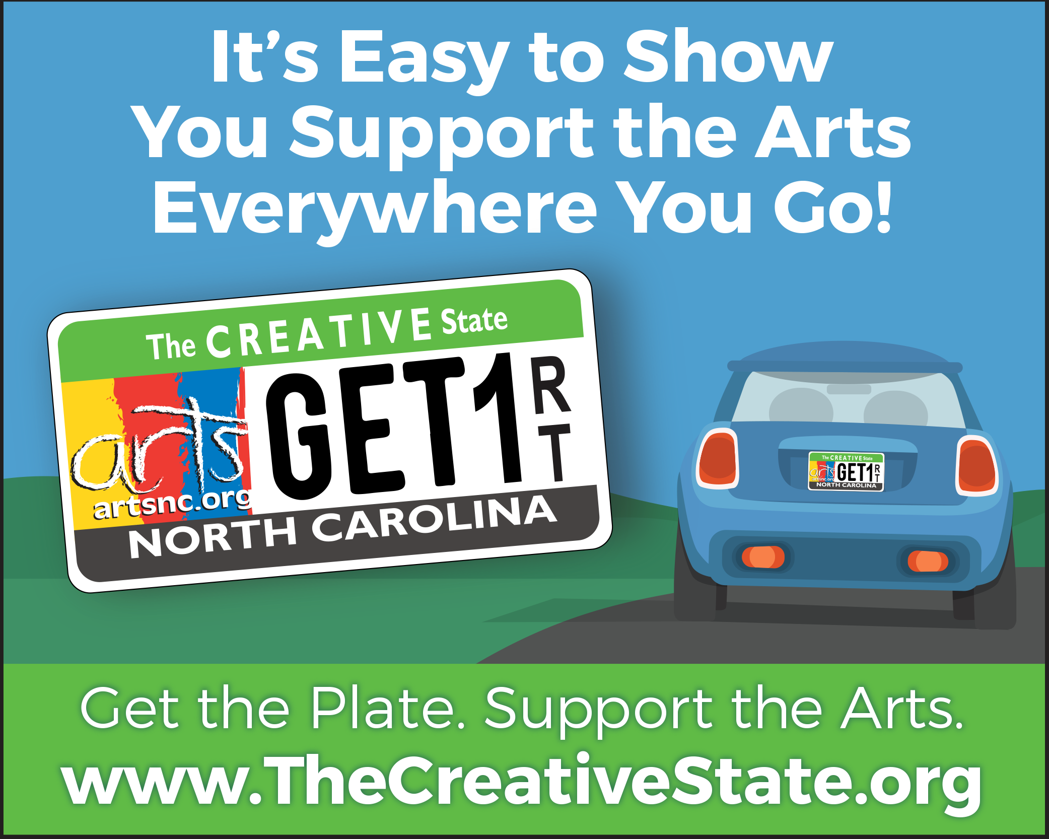 Drive the Arts Forward - www.thecreativestate.org